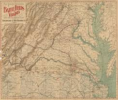 Map Of Virginia by Map Of Virginia Battles
