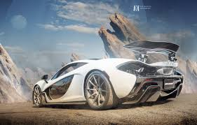 orange mclaren wallpaper stunning white mclaren p1 rear side view by alex murtaza