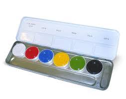 kryolan aquacolor palette 6 colors