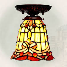 vintage baroque style stained glass shade tiffany bathroom lighting