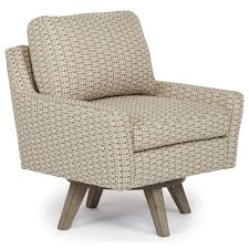 Swivel Club Chairs For Living Room by Seymour Mid Century Modern Chair With Swivel Base By Best Home
