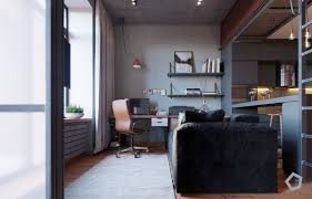 chic small studio apartment use a space splendidly to make it