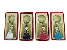 keychain favors llaveros metal solido quinceanera design 1 con cajitas 12