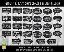 speech bubble activity printable birthday speech bubbles28 by happyfiestadesign on etsy