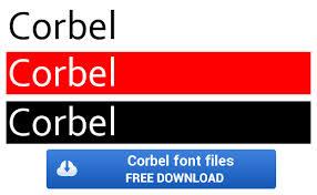 Corbel Bold Corbel Font U2013 Corbel Ttf Otf Zip File Download