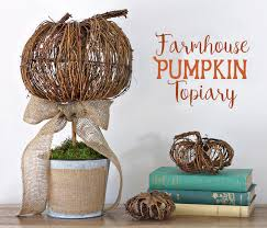 pumpkin topiary the craft patch diy pumpkin topiary
