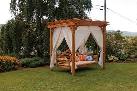 furniture amish outdoor furniture of pergola with swing lounge