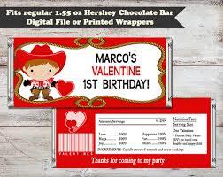 cowboy valentine u0027s or birthday water bottle wrapper mckenna