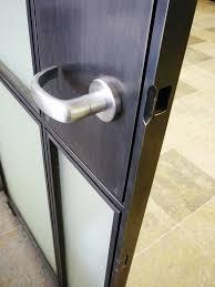 glass door wall blackened steel doors 2 caliper studio
