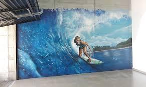 Surf Mural by Berok Graffiti Mural Profesional En Barcelona Pintar No Es