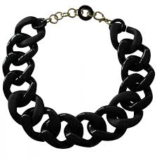 colored chain link necklace images Black chain link necklace thecolorbars jpg