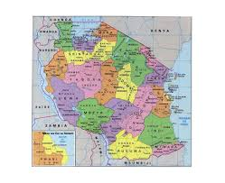 Mt Kilimanjaro Map Maps Of Tanzania Detailed Map Of Tanzania In English Tourist