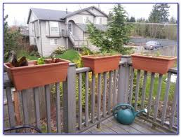 planter boxes for decks plans decks home decorating ideas