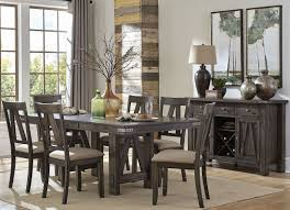 mattawa brown extendable dining room set from homelegance