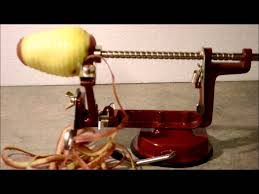 pam chef apple peeler peeling a potato with peel away rotary kitchen gadget beats