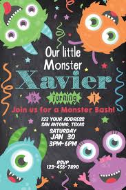 Halloween First Birthday Invitations Best 25 Monster Invitations Ideas On Pinterest Monster Party