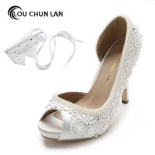 wedding shoes pumps aliexpress buy women shoes pumps wedding shoes satin lace