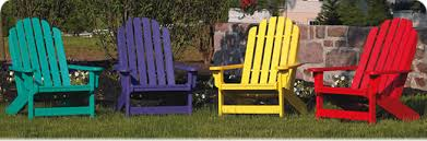 Outdoor Furniture Adirondack Collection Breezesta Recycled Poly - Colorful patio furniture