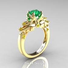 wedding ring designs for classic angel 14k yellow gold 1 0 ct emerald yellow sapphire