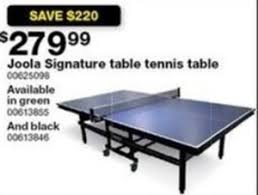 black friday ping pong table deals joola signature table tennis table 279 99 at sears on black friday
