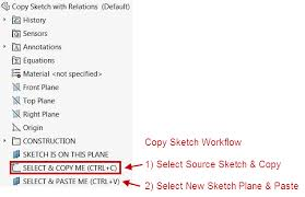 copy sketch and maintain the sketch relations