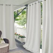 White Outdoor Curtain Panels Semi Sheer Curtains U0026 Drapes Joss U0026 Main
