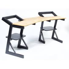 quiklok studio desk fame w 202 professional workbench natural wood
