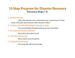 construction of a disaster recovery plan with business only broadband