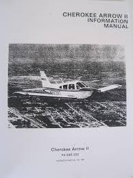 piper cherokee arrow ii information manual pa 28r 200 handbook