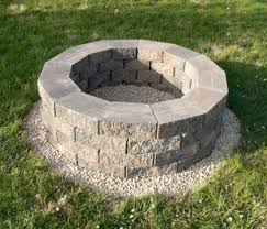 steps to build pit diy Firepit Bricks