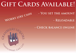 reloadable gift cards cranberry liquors gift card cranberry liquors the spirit of