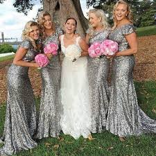 sequin bridesmaid dresses best 25 silver bridesmaid dresses ideas on