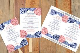 Diy Wedding Fan Programs Diy Wedding Fan Program Template Download Instantly Editable