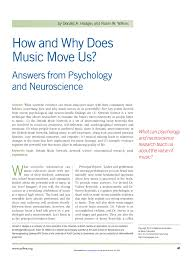 how and why does music move us answers from psychology and