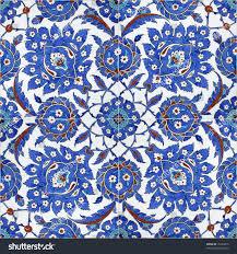 Ottoman Tiles Floral Patterns On Ottoman Tiles Istanbul Stock Photo 10309615