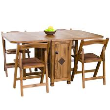 Oak Folding Dining Table Sedona Rustic Oak Five Dinette Set Drop Leaf Dinette Table