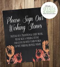 wishing stones wedding guestbook wishing stones tulip sign wedding ceremony printable