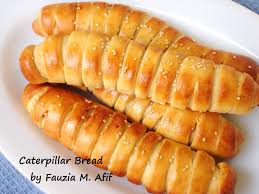 caterpillar bread step by step fauzia u0027s kitchen fun