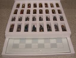 chess set with glass board king arthur u0026 guinevere fantasy new 3