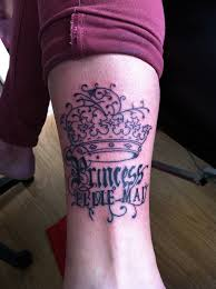 awesome princess crown tattoo design