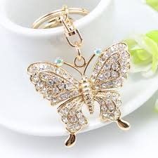fashion key rings images Rhinestone butterfly keychains for key keyrings fashion crystal jpg