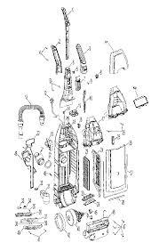 hoover windtunnel upright vacuum parts diagram evacuumstore com