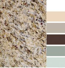santa cecilia granite with color scheme love it kitchen