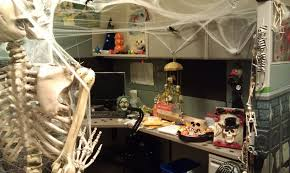 halloween computer decor halloween cubicle decorations ideas with skull sculpture