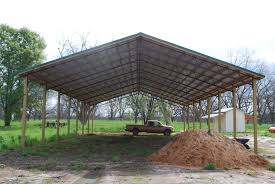 pole barn open shelter and fully enclosed metal pole barns smith built