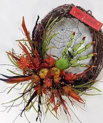 crooked tree creations halloween floral decor wreaths arrangements