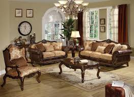cream leather and wood sofa living room attractive image of living room makeovers decoration