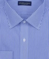 slim fit blue bengal stripe french cuff non iron men u0027s dress shirt