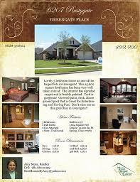 listing flyer templates u2013 texas home group