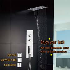 bath shower faucet picture more detailed picture about shower shower panel wall mounted bath shower faucet bathroom stainless thermostatic mixing valve square shower head rain